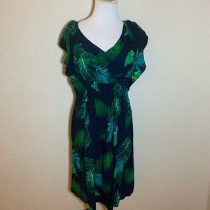 Old Navy floral rayon tunic top dress popover
